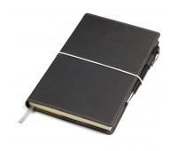 """Бизнес-блокнот """"BUSINESS"""", 140*220 мм, серый,  обложка портфолио,  блок-линейка, тиснение Цвет: Серый"""