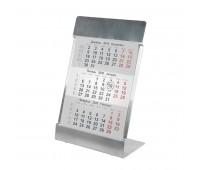 Календарь настольный на 2 года; размер 18*11,5 см, цвет- серебро, сталь Цвет: серебристый