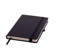 Ежедневник недатированный Barry, А5,  черный, кремовый блок, без обреза Цвет: Черный