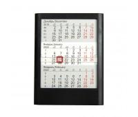 Календарь настольный на 2 года ; черный; 12,5х16 см; пластик; тампопечать, шелкография Цвет: Черный