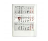 Календарь настольный на 2 года ; белый; 12,5 х16 см; пластик; тампопечать, шелкография Цвет: Белый
