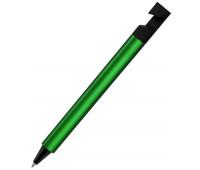 Ручка шариковая N5 с подставкой для смартфона Цвет: Зеленый