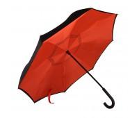 """Зонт-трость """"наоборот"""" ORIGINAL, пластиковая ручка, механический Цвет: Красный"""