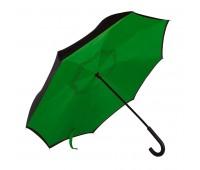 """Зонт-трость """"наоборот"""" ORIGINAL, пластиковая ручка, механический Цвет: Зеленый"""