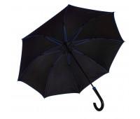 Зонт-трость BACK TO BLACK, пластиковая ручка, полуавтомат Цвет: Черный
