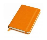 """Бизнес-блокнот """"Casual"""", 115 × 160 мм,  оранжевый, твердая обложка, резинка 7 мм, блок-клетка Цвет: Оранжевый"""