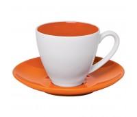 """Чайная пара """"Galena"""" в подарочной упаковке Цвет: Оранжевый"""