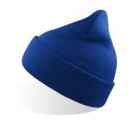Шапка вязаная двойная Wind с отворотом Цвет: Синий