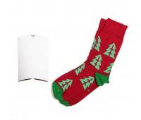 """Носки подарочные  """"Елки"""" в упаковке Цвет: Зеленый"""