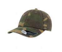 Бейсболка DAD HAT, 6 клиньев,  металлическая застежка Цвет: Камуфляж