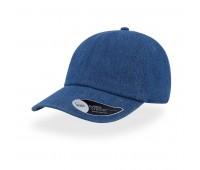 Бейсболка DAD HAT, 6 клиньев, металлическая застежка Цвет: Синий