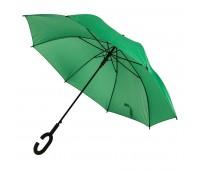 Зонт-трость HALRUM, пластиковая ручка, полуавтомат Цвет: Зеленый