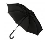 Зонт-трость OXFORD, ручка из искусственной кожи, полуавтомат Цвет: черный