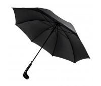 Зонт-трость LIVERPOOL с ручкой-держателем, полуавтомат Цвет: черный