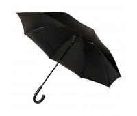 Зонт-трость CAMBRIDGE, пластиковая ручка, полуавтомат Цвет: черный