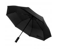 Зонт складной PRESTON с ручкой-фонариком, полуавтомат Цвет: черный