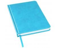 Ежедневник недатированный Bliss, А5,  голубой, белый блок, без обреза Цвет: Голубой