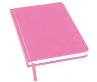 Ежедневник недатированный Bliss, А5,  розовый, белый блок, без обреза Цвет: Розовый