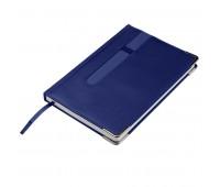 Ежедневник недатированный ASTON, А5,  синий, белый блок, без обреза Цвет: Синий