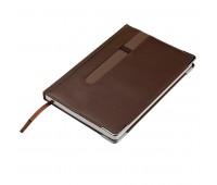 Ежедневник недатированный ASTON, А5,  коричневый, белый блок, без обреза Цвет: Коричневый