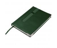 Ежедневник недатированный ASTON, А5,  темно-зеленый, белый блок, без обреза Цвет: Зеленый