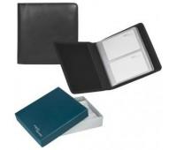 """Визитница  """"Парма"""" на 60 визиток в подарочной упаковке Цвет: Черный"""