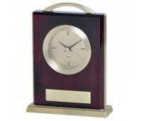 """Часы настольные """"Министр""""  с шильдом Цвет: золотистый, коричневый"""