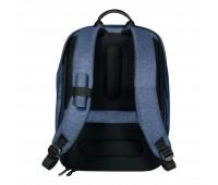 Рюкзак Vento с USB и защитой от карманников, синий/серый