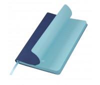 Подарочный набор Portobello/Latte синий-голубой (Ежедневник недат А5, Ручка, Power Bank)