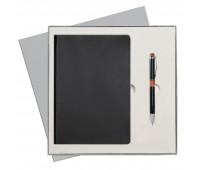 Подарочный набор Portobello/Latte черный-2 (Ежедневник недат А5, Ручка) беж. ложемент