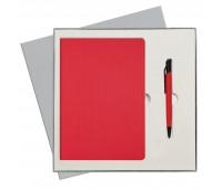 Подарочный набор Portobello/Rain красный (Ежедневник недат А5, Ручка) беж. ложемент