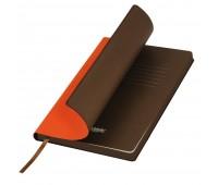 Подарочный набор Portobello/Latte оранжевый (Ежедневник недат А5, Ручка, Power Bank)