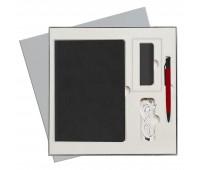 Подарочный набор Portobello/ Flax City черный (Ежедневник недат А5, Ручка, Power Bank)