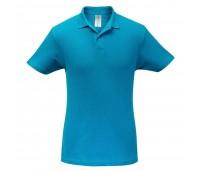 Рубашка поло ID.001 бирюзовая