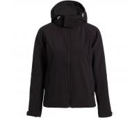 Куртка женская Hooded Softshell черная