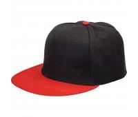 Бейсболка Ben Hope с прямым козырьком, черная с красным