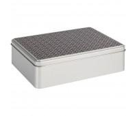 Коробка прямоугольная «Рыцарь», серебристая