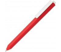 Ручка шариковая Corner, красная с белым