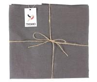Скатерть Essential с пропиткой, квадратная, темно-серая