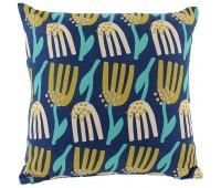 Чехол на подушку Lazy flower, квадратный, темно-синий