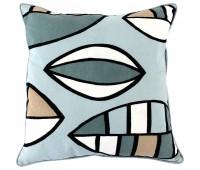 Чехол на подушку «Гармония тайги», голубой