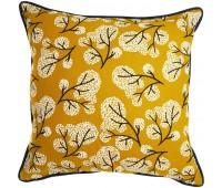 Чехол на подушку «Сибирский цветок», горчичный