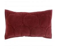 Чехол на подушку «Хвойное утро», прямоугольный, бордовый