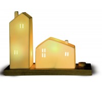Светильник керамический «Домики»