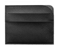 Чехол для карточек Linen, черный