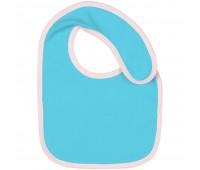 Нагрудник детский Baby Prime, бирюзовый с розовым