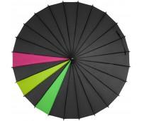Зонт-трость «Спектр», черный неон