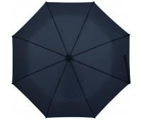 Зонт складной Clevis с ручкой-карабином, темно-синий