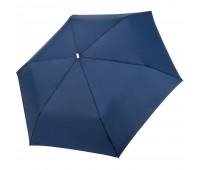 Зонт складной Fiber Alu Flach, темно-синий