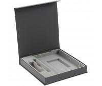 Коробка Arbor под ежедневник 13х21 см, аккумулятор и ручку, серая